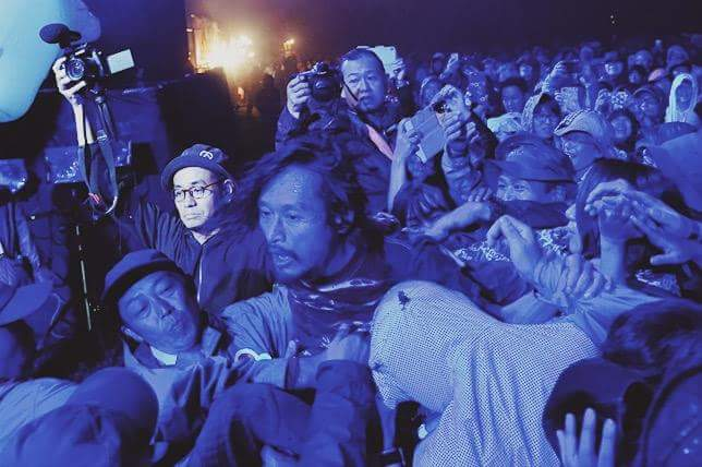 Eye takes to the crowd. Photo: Taio Konishi