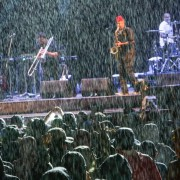 Heavy rain during Fishbone's 2018 White Stage set.